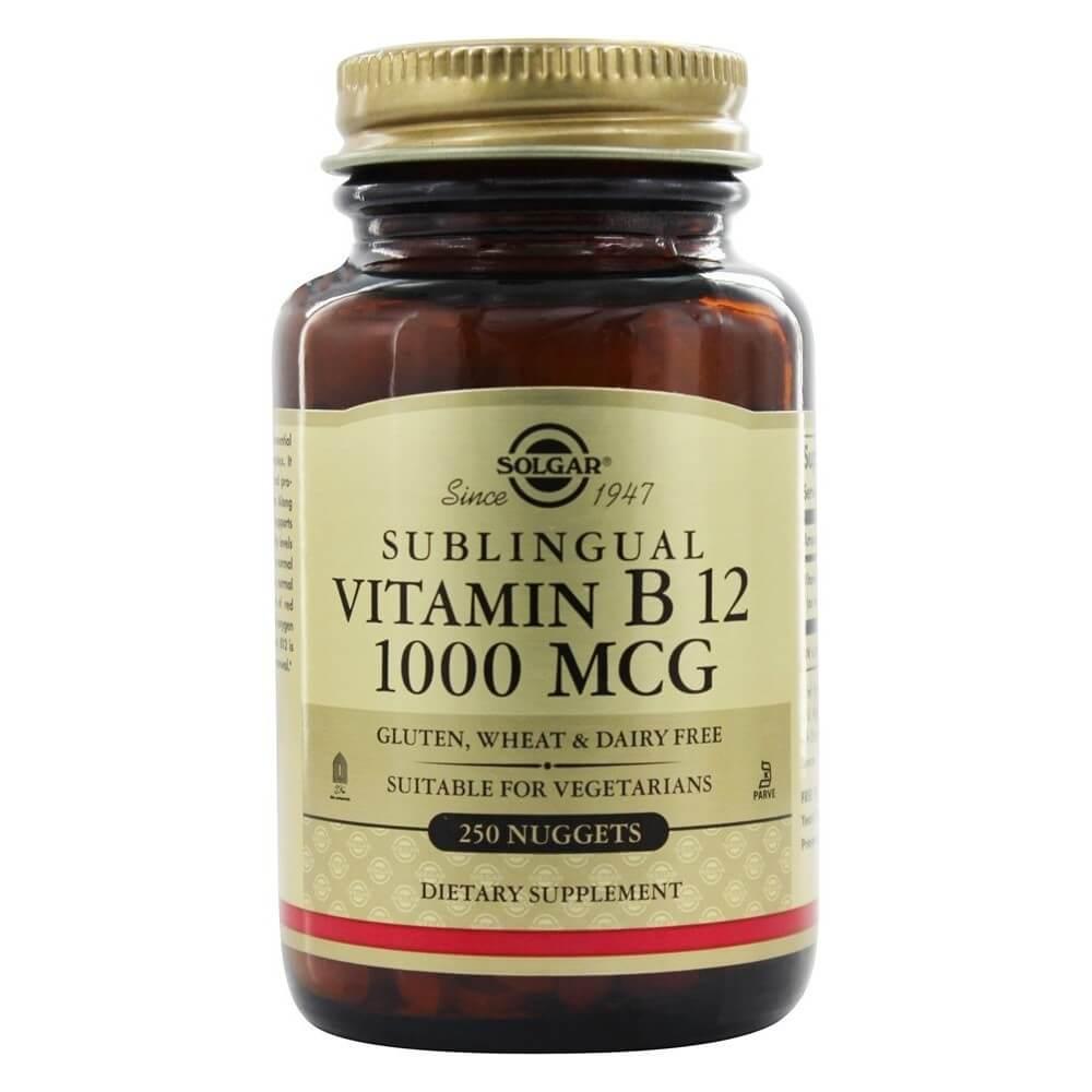 Vitamin B12 Sublingual 1000 mcg. 250 Nuggets