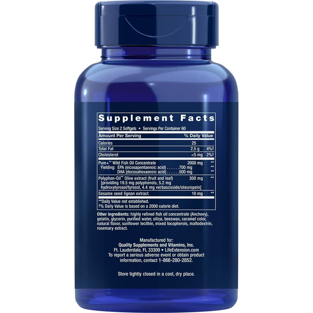 Super Omega-3 EPA/DHA Fish Oil, Sesame Lignans & Olive Extract | Vitma